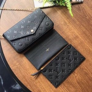 Louis Vuitton felicie empreinte black